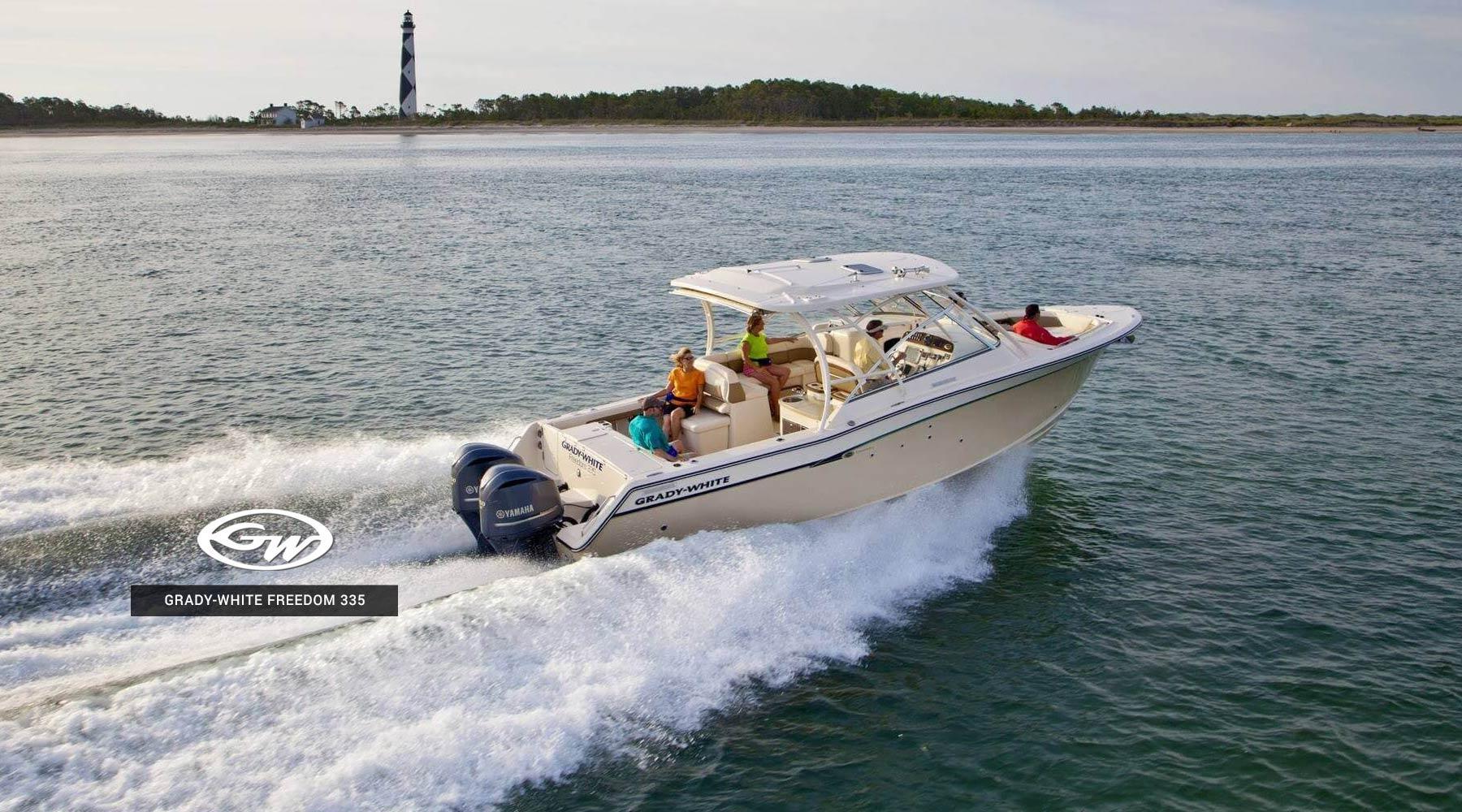 2019 grady white dual console freedom 335 ingman marine for Yamaha repower cost